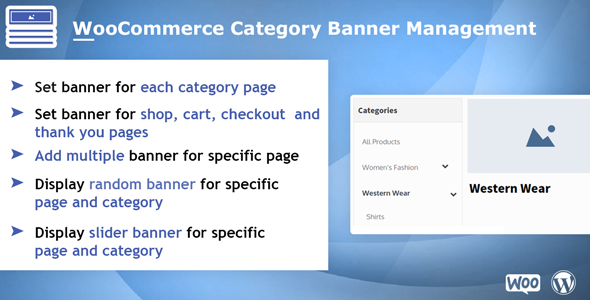 Woocommerce Category Banner Management - CodeCanyon Item for Sale