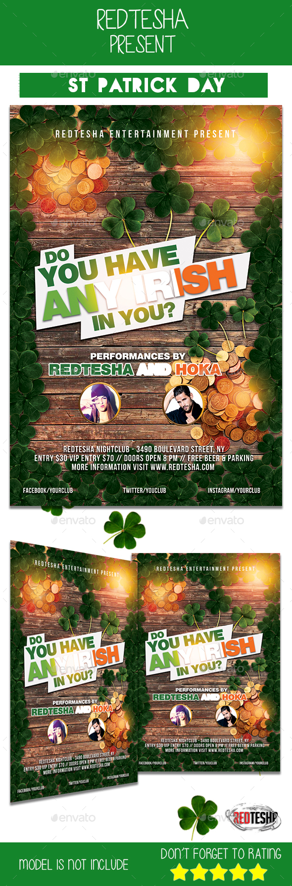 St Patrick Days Flyer - Events Flyers