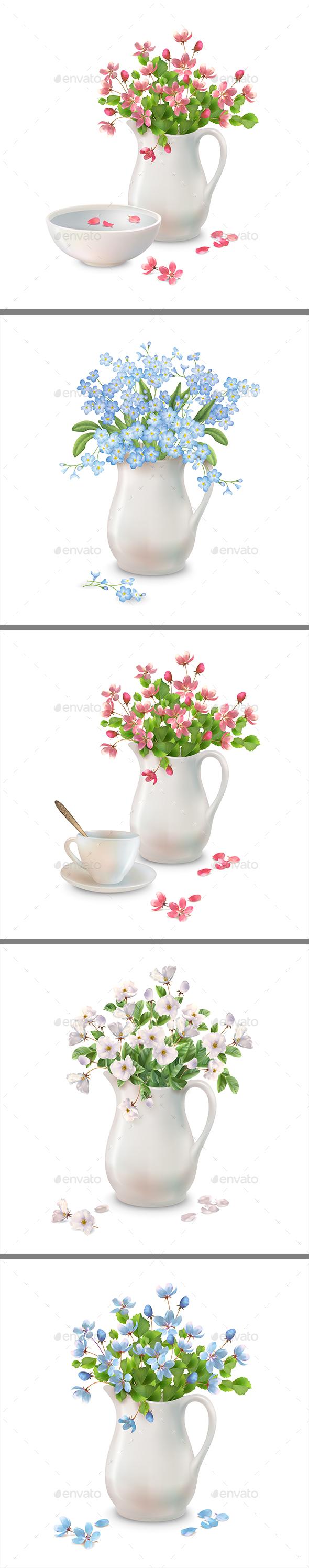 Spring Flowers in Jug - Flowers & Plants Nature