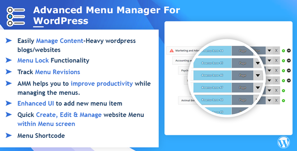 Advance Menu Manager - CodeCanyon Item for Sale