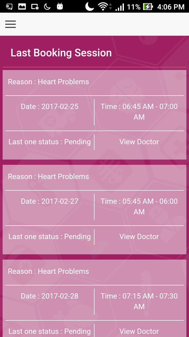 Online Doctor or Medical Appointment App - Book My Doc Mobile App