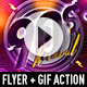 90s Revival Flyer Template + GIF Animation Action - GraphicRiver Item for Sale