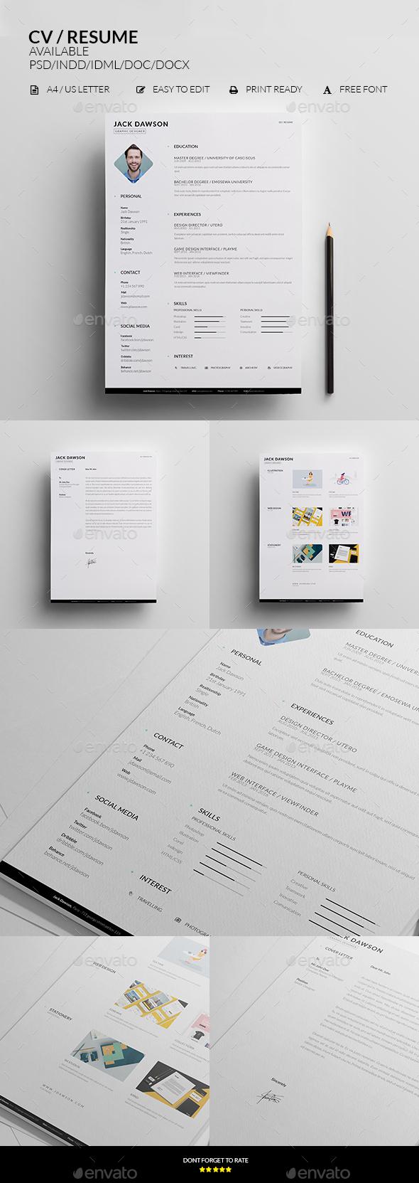 CV / Resume - Resumes Stationery