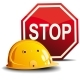 Helmet and Stop Sign - GraphicRiver Item for Sale