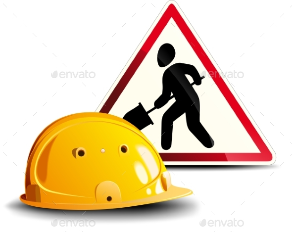 Working Sign and Helmet - Concepts Business