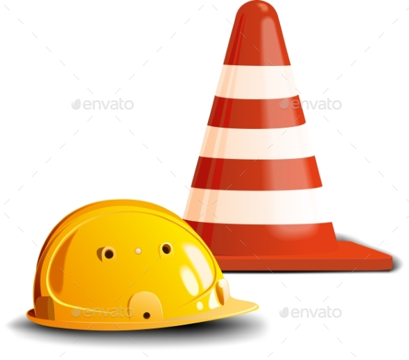 Road Cone and Helmet - Buildings Objects