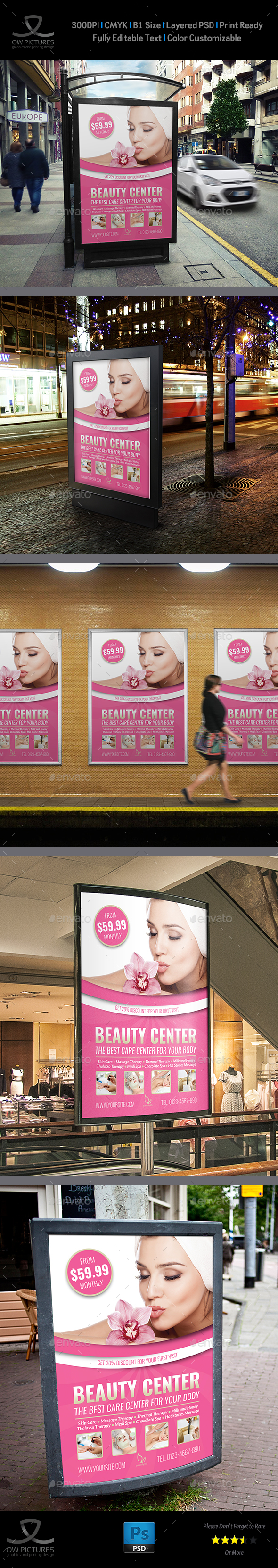 Beauty Center Poster Template - Signage Print Templates