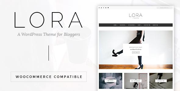 LORA - Clean & Personal WordPress Blog Theme - Blog / Magazine WordPress