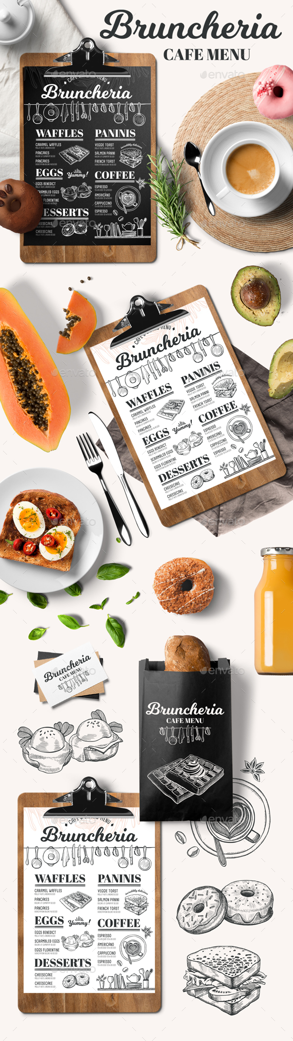 Brunch Menu Template - Food Menus Print Templates
