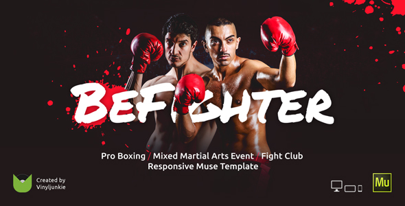 BeFighter – Boxing Event / Mixed Martial Arts / Fight Club Responsive Muse Template