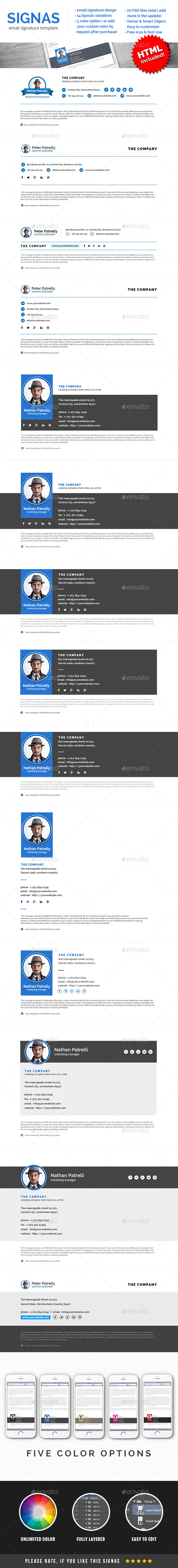 Signas Vol.02 - Email Signature Template