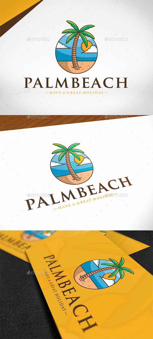 Palm Beach Logo Template - Nature Logo Templates