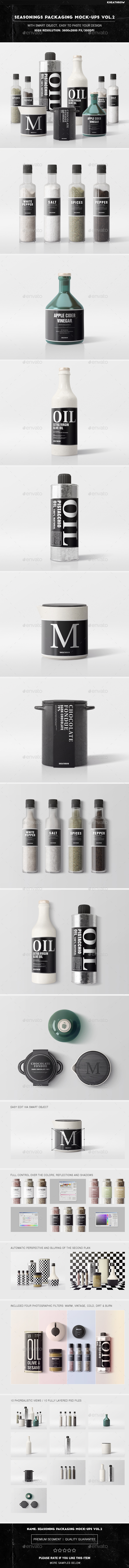 Seasonings Packaging Mock-Ups Vol.2