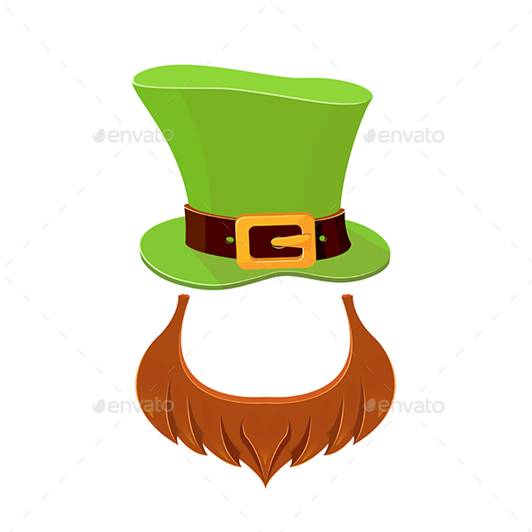 Hat and Beard Leprechaun - People Characters