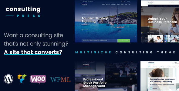 ConsultingPress - Multi Niche Consulting WordPress Theme - Business Corporate