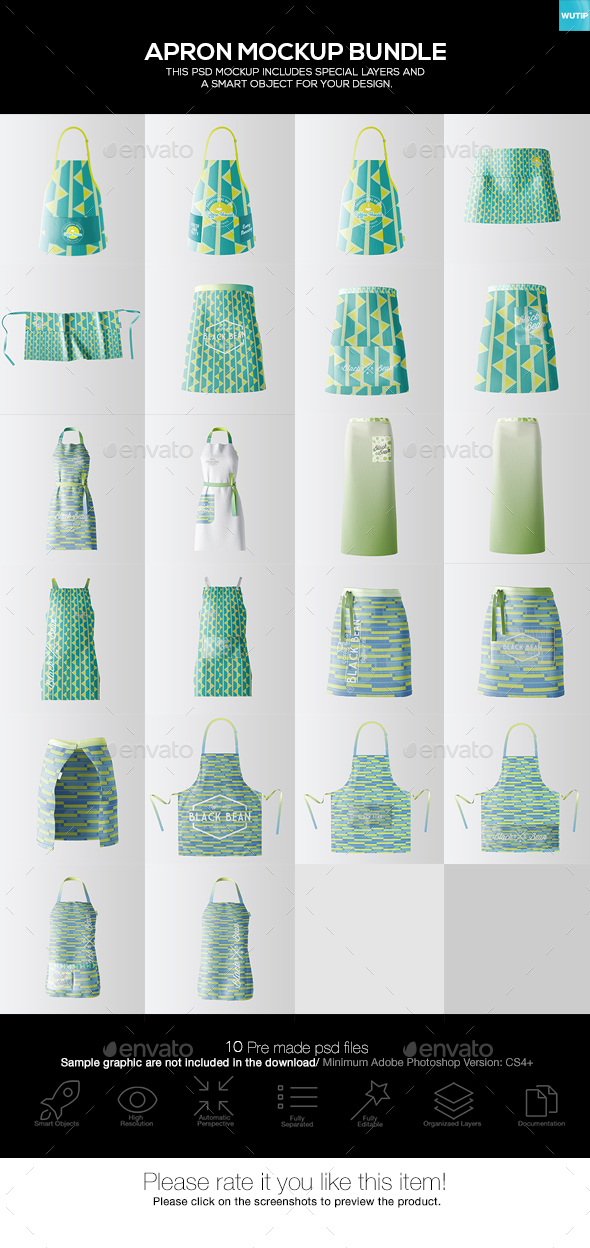 Apron Mockup Bundle - Miscellaneous Apparel