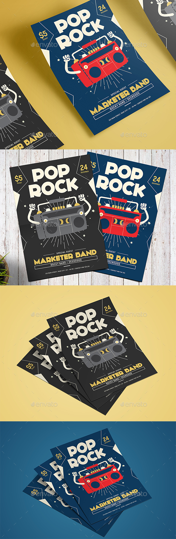 Pop Rock Flyer - Events Flyers