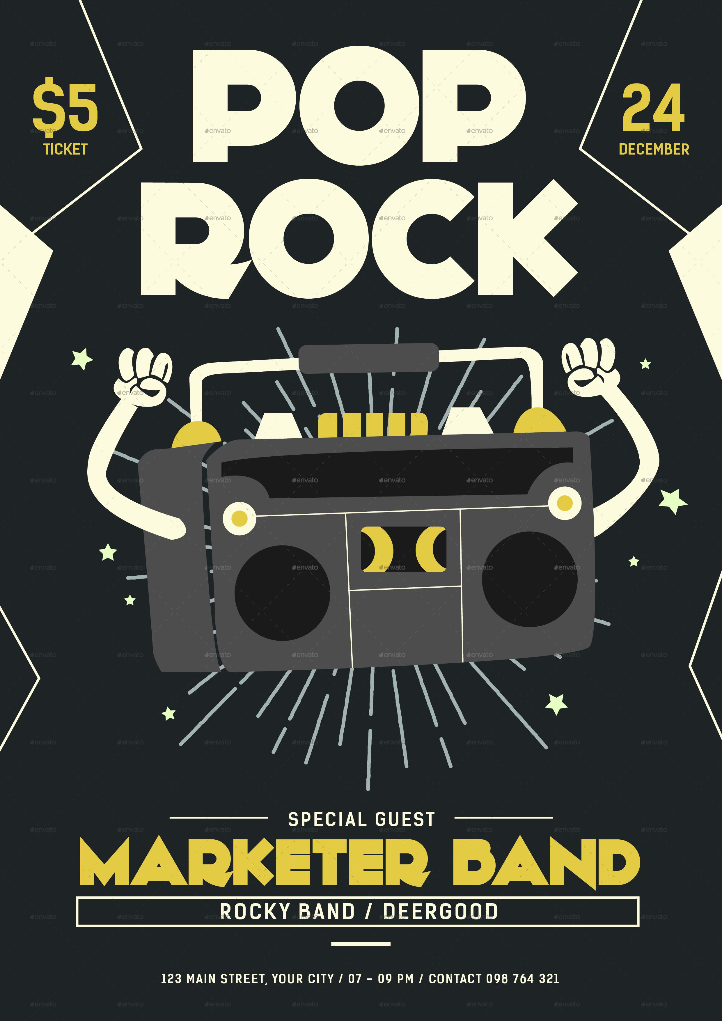Pop Rock Flyer