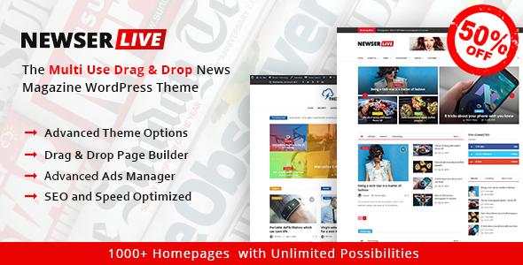 Newser – The Multiuse Drag and Drop News/Magazine WordPress Theme