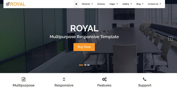 Awesome Royal Multipurpose HTML5 Responsive Template