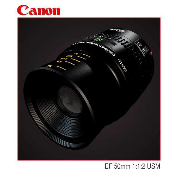 Lens Canon EF 50mm 1:1:2 USM - 3DOcean Item for Sale