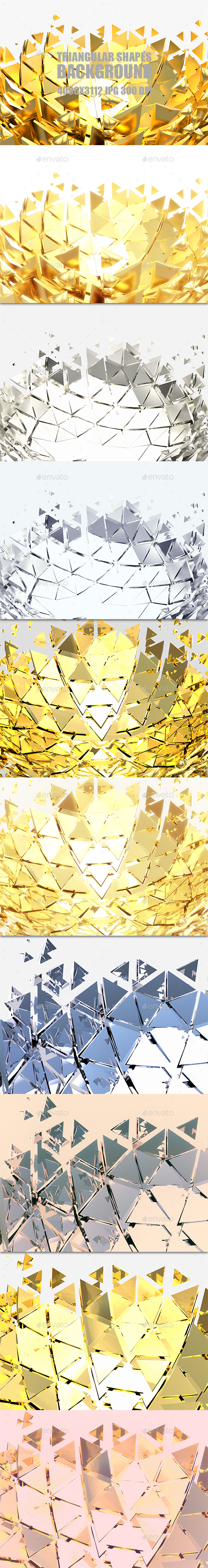 Triangular Shapes - 3D Backgrounds