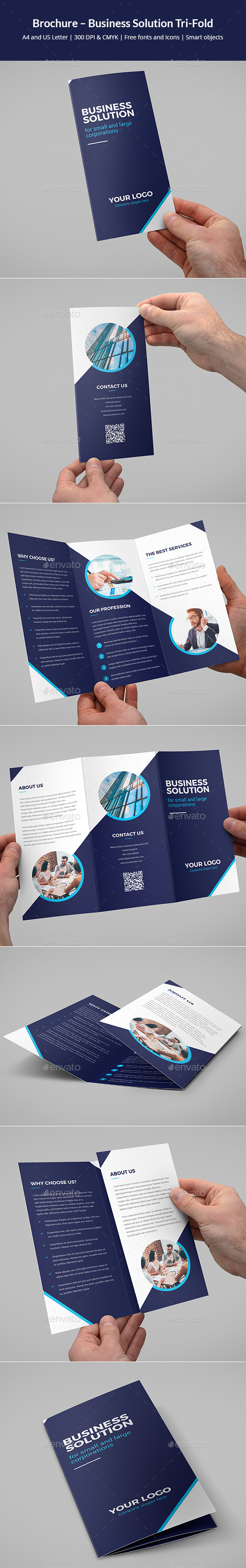 Brochure – Business Solution Tri-Fold - Corporate Brochures