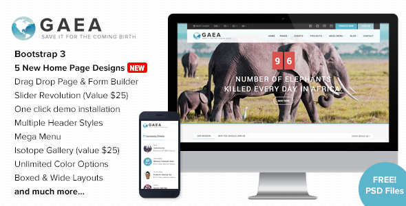 Image of Gaea - Environmental WordPress Theme