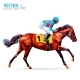 Jockey on Horse - GraphicRiver Item for Sale