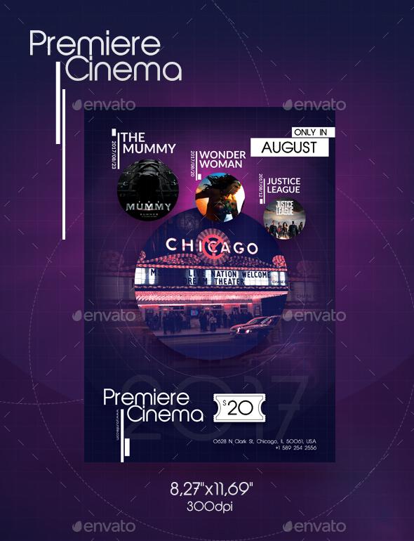 Premiere Cinema Flyer - Flyers Print
