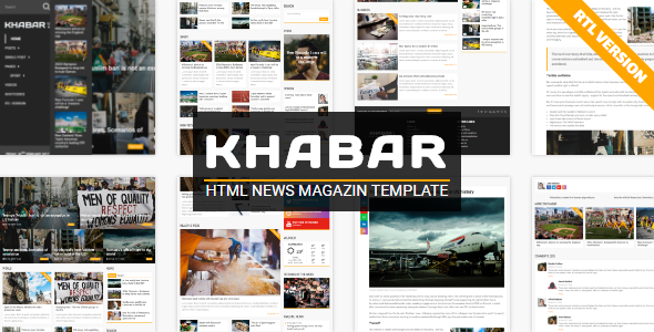 KHABAR – News Magazin Template