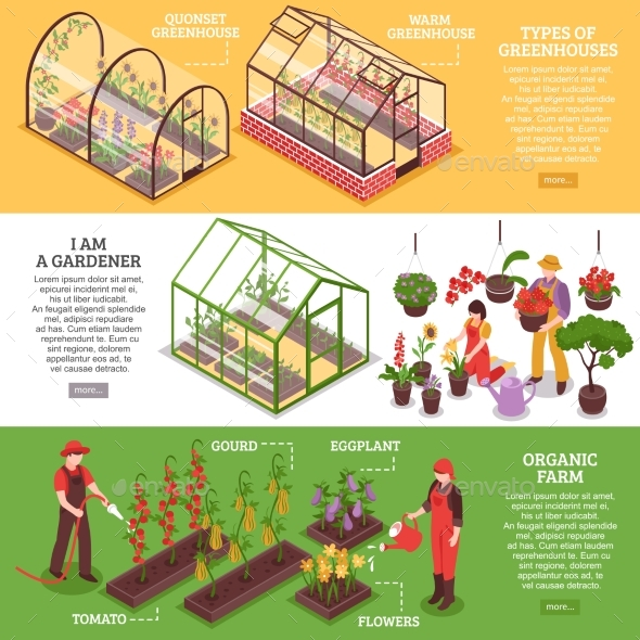 Greenhouse Banner Set - Nature Conceptual