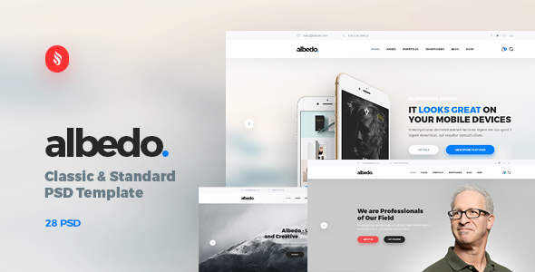 Albedo – Classic and Standard PSD Template