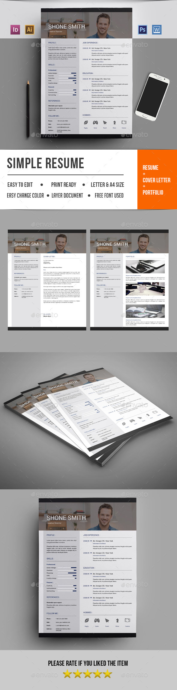 Resume Template-V18 - Resumes Stationery