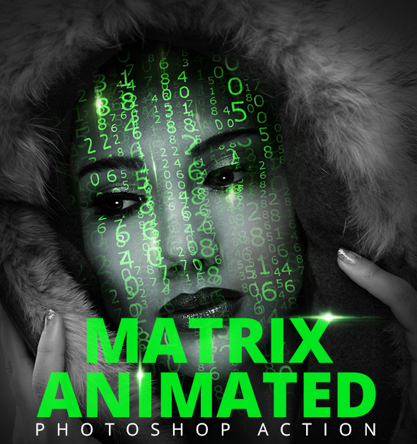 Matrix Animation Action - Photo Effects Actions