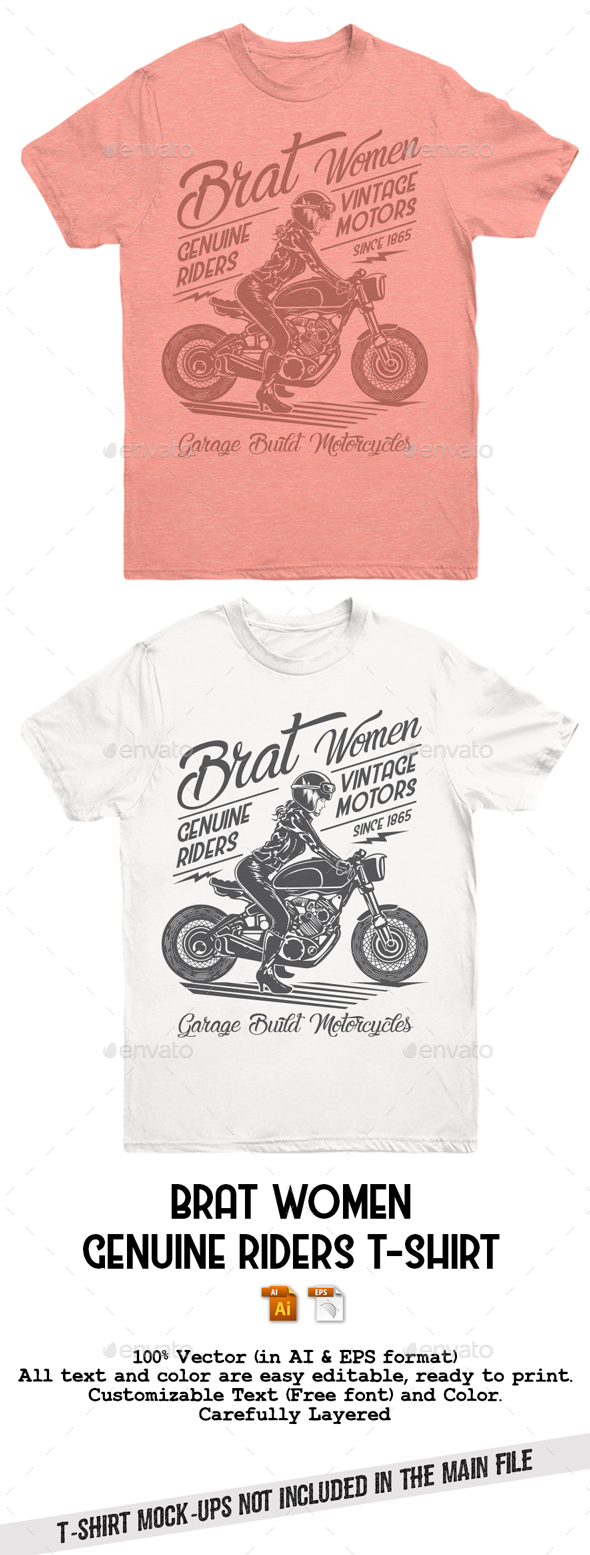 Brat Women Genuine Riders T-Shirt - T-Shirts