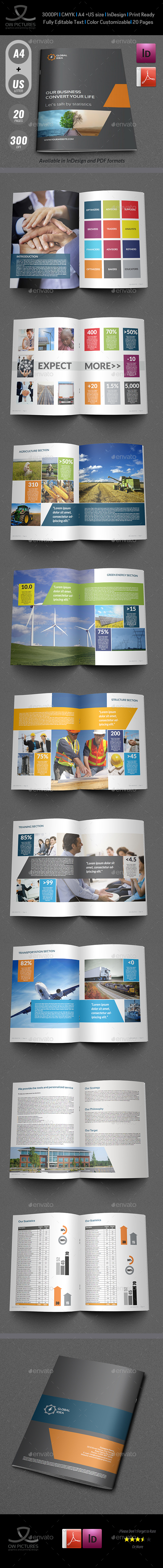Corporate Brochure Template Vol.4 - 20 Pages - Corporate Brochures