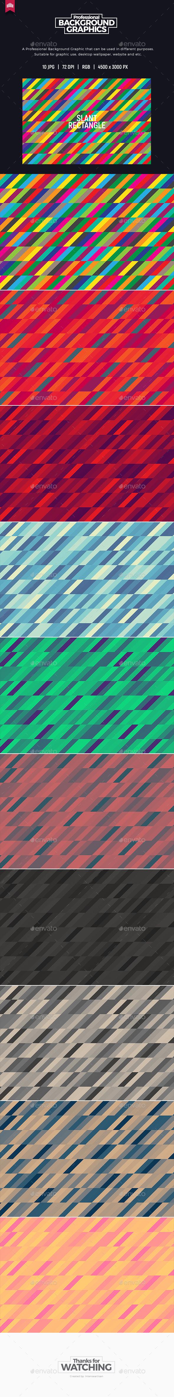 Slant Rectangle Background - Backgrounds Graphics