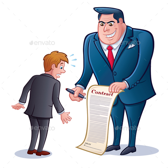 Business Man with Contract - Business Conceptual