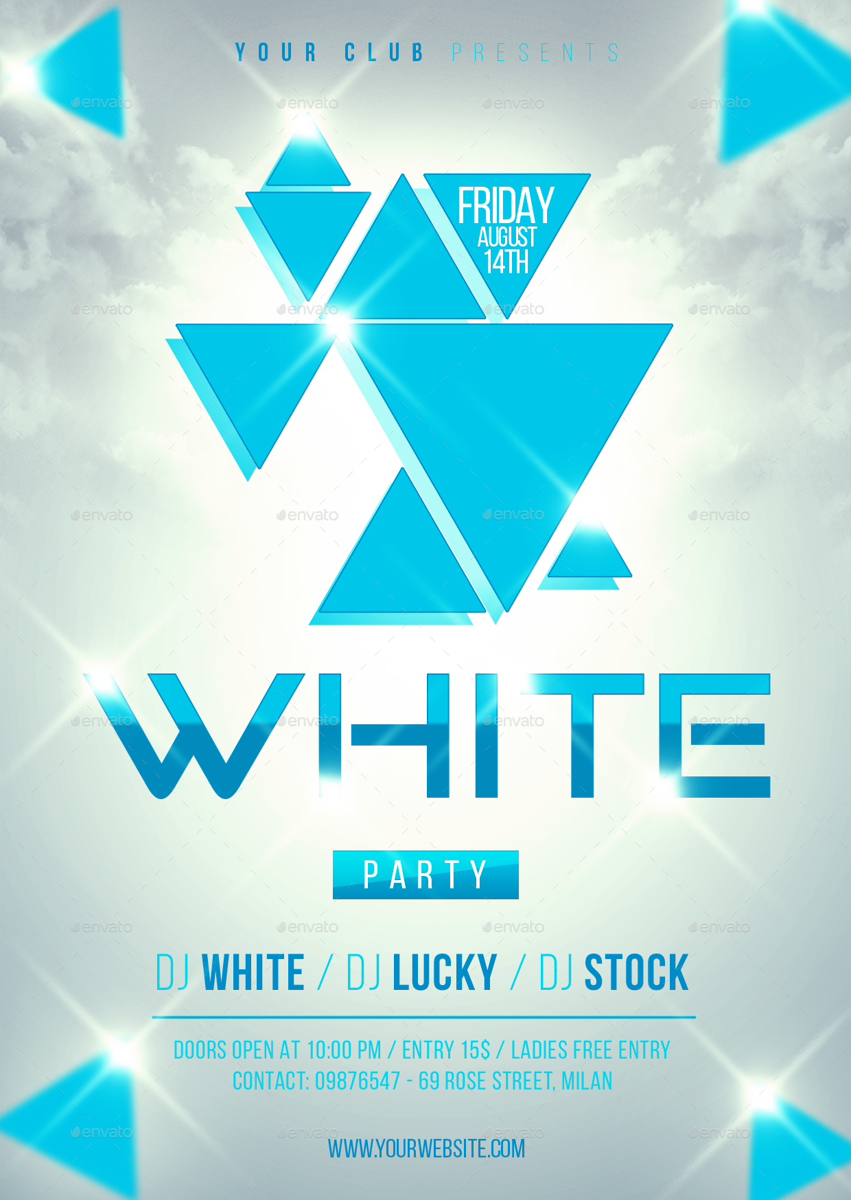 white party flyer template by lapabrothers graphicriver rh graphicriver net white party flyer free download white party flyer psd