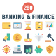 Banking and Finance Flat Icons - GraphicRiver Item for Sale