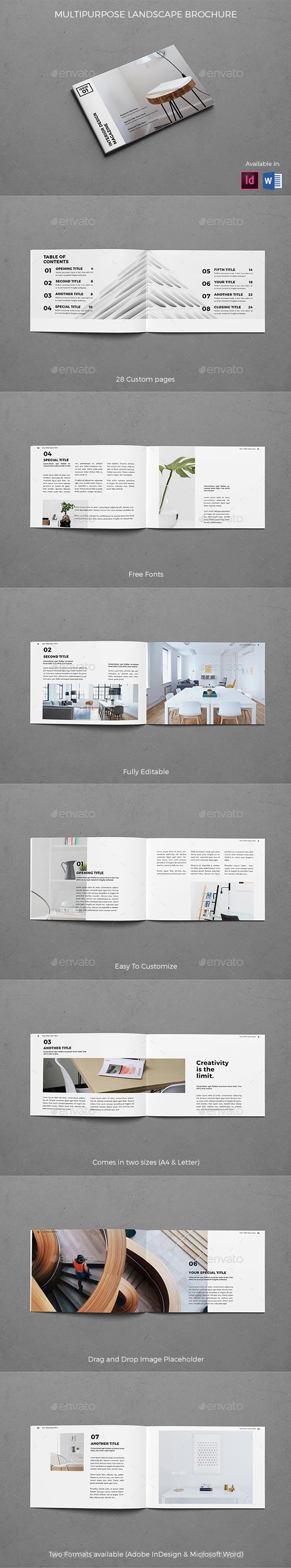 Modern Architecture Landscape Brochure - Brochures Print Templates