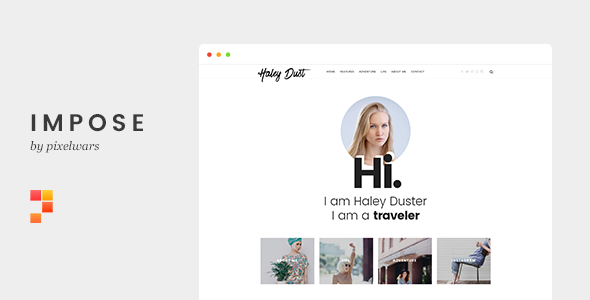 Impose Blog - A Template For Bloggers - Personal Site Templates
