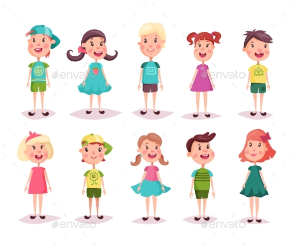 Boy and Girl, Kids and Children, Childhood Theme - People Characters