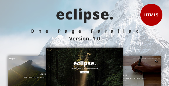 eclipse. - One Page Multipurpose Template - Portfolio Creative