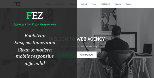 Agency One Page Responsive