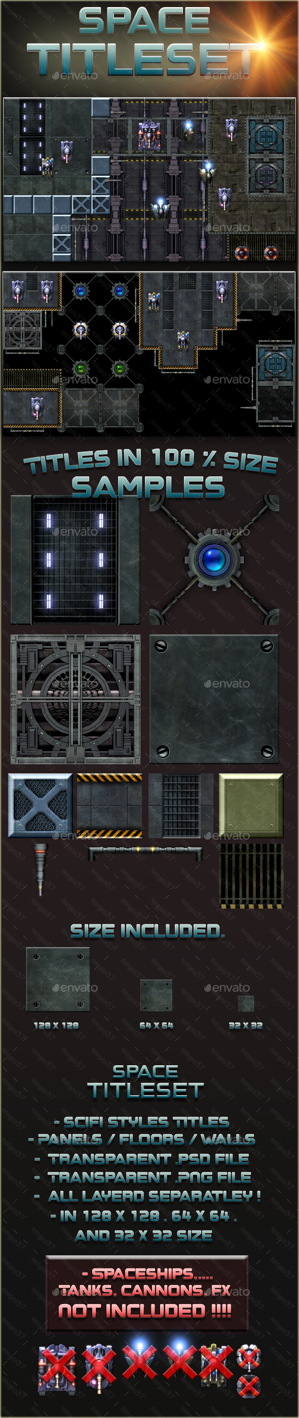Scifi Space Tileset - Tilesets Game Assets
