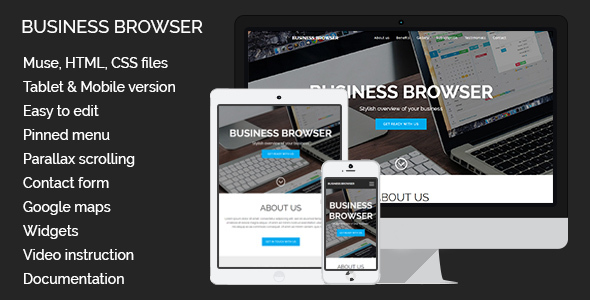 Business Browser | Adobe Muse Template - Corporate Muse Templates