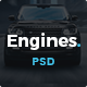 Engines - Automotive, Motor Cars, Vehicle Dealership PSD Template - ThemeForest Item for Sale