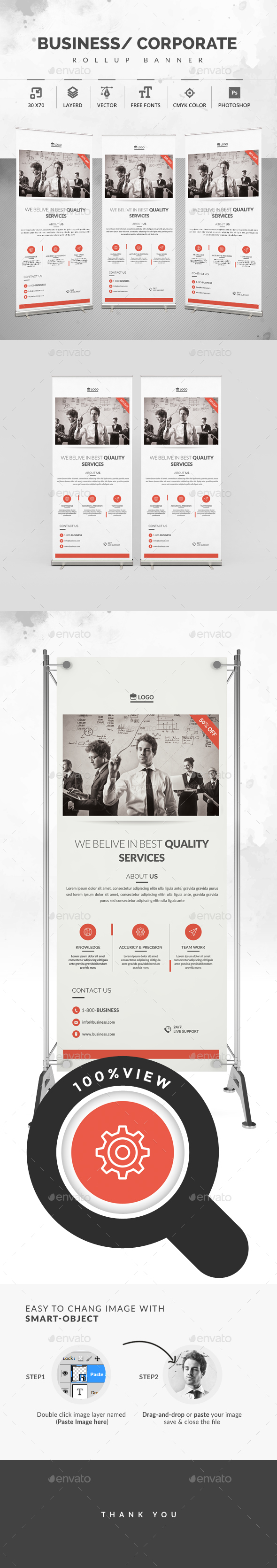 Rollup Banner - Signage Print Templates